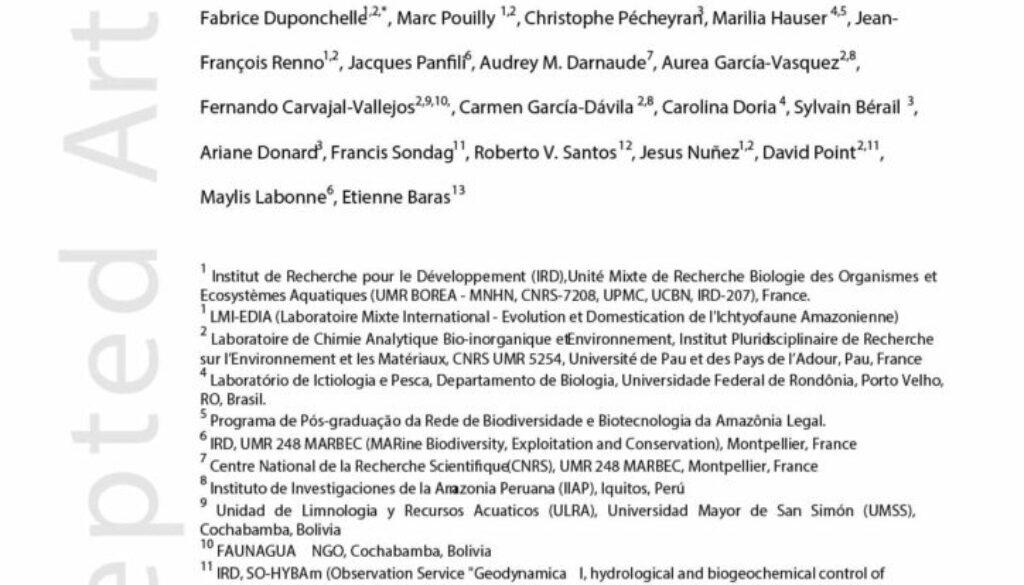 Duponchelle_2016_Trans-Amazonian migration goliath catfish_JournalAppliedIEcology_tapa